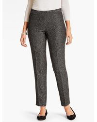 Talbots | Gray Sequin Tweed Tailored Ankle Pant-curvy | Lyst