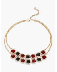 Talbots - Multicolor Sparkle Cabochon Necklace - Lyst