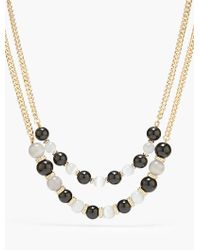 Talbots - Black Placed Bead Necklace - Lyst