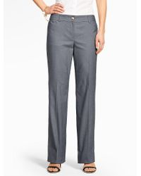Talbots | Blue Summer Cotton Trouser | Lyst