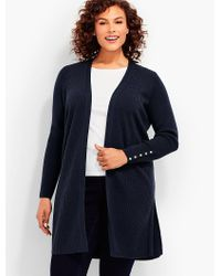 Talbots | Blue Womans Exclusive Ribbed Duster Cardigan | Lyst