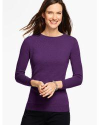 Talbots | Purple Cashmere Audrey Sweater | Lyst