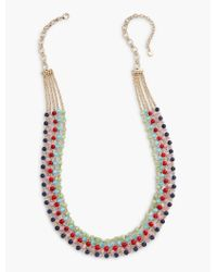 Talbots | Multicolor Bright Bead Multi-strand Necklace | Lyst