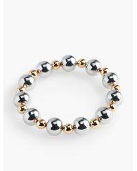 Talbots   Metallic Mixed-bead Stretch Bracelet   Lyst