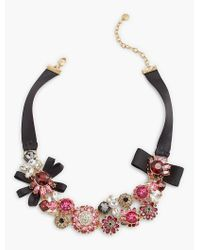 Talbots - Multicolor Ribbon-cluster Necklace - Lyst