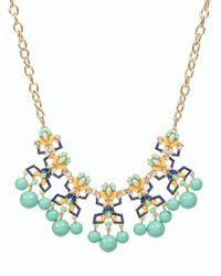 Talbots - Multicolor Bead & Sparkle Drop Necklace - Lyst