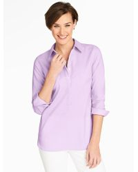 Talbots - Purple End-on-end Popover - Lyst