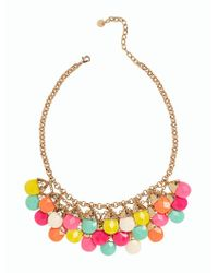 Talbots - Metallic Faceted Bead-drop Necklace - Lyst