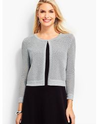 Talbots | Gray Sparkle Cross-stitched Dress Shrug | Lyst