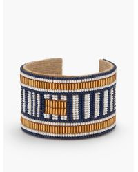 Talbots - Multicolor Seed-bead Cuff Bracelet - Lyst