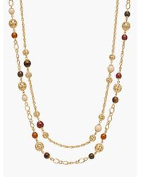 Talbots - Metallic Filigree Bead Necklace - Lyst
