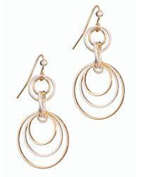 Talbots - Metallic Multi-hoop Drop Earrings - Lyst
