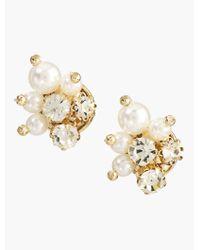Talbots - Metallic Pearl Cluster Earrings - Lyst