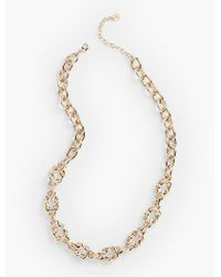 Talbots   Metallic Intertwined-link Necklace   Lyst