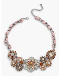 Talbots   Metallic Sequin & Ribbon Statement Necklace   Lyst