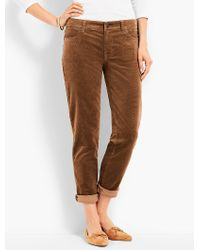 Talbots - Brown Flawless Cord Relaxed Ankle Boyfriend - Lyst