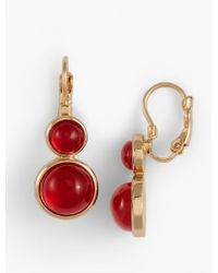 Talbots - Red O-ring Drop Earrings - Lyst