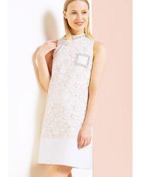 Tara Jarmon | Natural Cream Lace Cocktail Dress | Lyst
