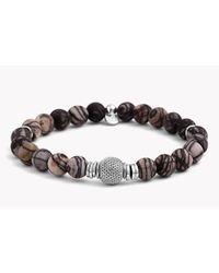 Tateossian | Brown Stonehenge Silver Bracelet | Lyst