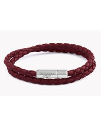 Tateossian - Red Double Wrap Slim Pop Taito Bracelet - Lyst