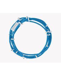 Tateossian | Blue Capri Silver Friendship Bracelet | Lyst