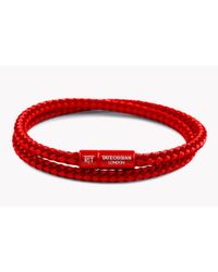Tateossian - Red Rt Duo Tone Bracelet for Men - Lyst