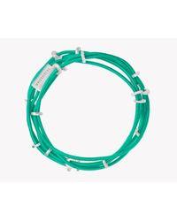 Tateossian - Green Capri Silver Friendship Bracelet - Lyst