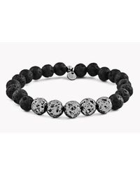 Tateossian - Black Asteroid & 5 Silver Beads Bracelet for Men - Lyst