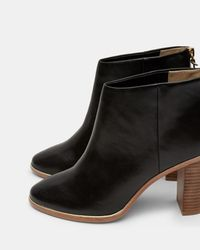 Ted Baker - Black Leather Ankle Boots - Lyst