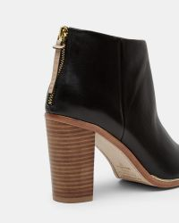Ted Baker | Black Leather Ankle Boots | Lyst