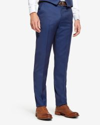 Ted Baker | Blue Wool Suit Pants for Men | Lyst