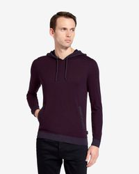 Ted Baker - Purple Pocket Detail Hoodie for Men - Lyst