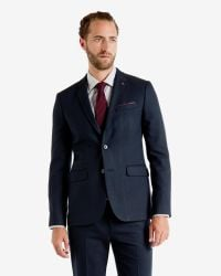 Ted Baker | Blue Birdseye Jacket for Men | Lyst