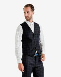 Ted Baker - Blue Nylway Herringbone Waistcoat for Men - Lyst