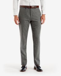Ted Baker - Gray Wool And Cashmere-blend Trousers for Men - Lyst