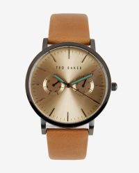 Ted Baker - Brown Sunray Dial Watch for Men - Lyst