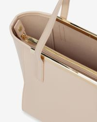 Ted Baker | Natural Small Crosshatch Leather Shopper Bag | Lyst