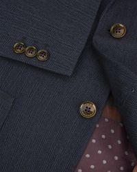Ted Baker - Blue Herringbone Jacket for Men - Lyst