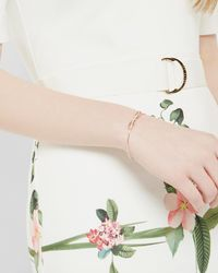Ted Baker - Metallic Bow Detail Crystal Cuff - Lyst