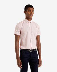 Ted Baker - Red Tile Print Shirt for Men - Lyst