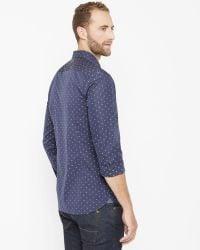 Ted Baker | Blue Fill Coupé Shirt for Men | Lyst