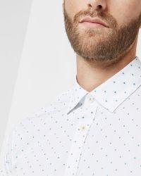 Ted Baker | White Fill Coupé Shirt for Men | Lyst