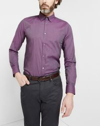 Ted Baker | Purple Pindot Dobby Shirt for Men | Lyst