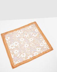 Ted Baker - Orange Large Floral Print Pocket Square for Men - Lyst