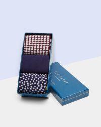 Ted Baker | Multicolor Organic Mixed Sock Gift Set for Men | Lyst