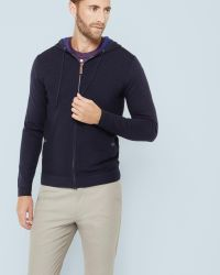 Ted Baker | Blue Textured Hoodie for Men | Lyst