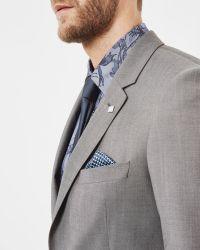 Ted Baker   Gray Debonair Wool Jacket for Men   Lyst
