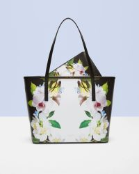 Ted Baker | Black Forget Me Not Leather Shopper Bag | Lyst