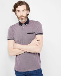 Ted Baker | Purple Oxford Collar Polo Shirt for Men | Lyst