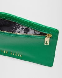 Ted Baker - Gray Crosshatch Leather Money Pouch - Lyst